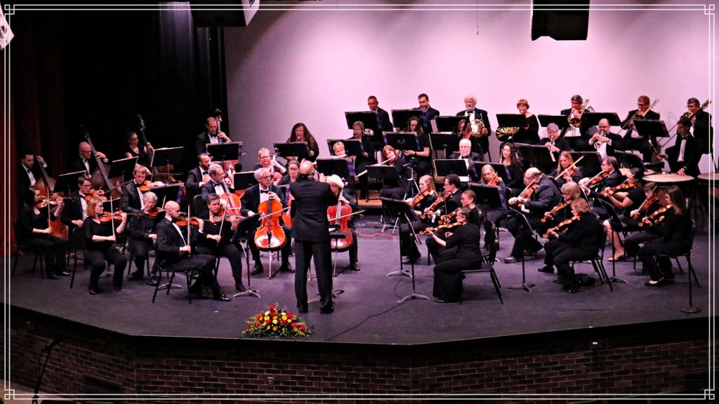 The Clinton Symphony Orchestra performs at Clinton High School in Iowa